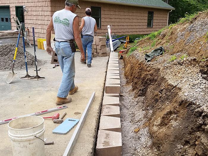 Good DIY Retaining Wall Failure U0026 Rebuild [ANGLE 2   CONSTRUCTION]