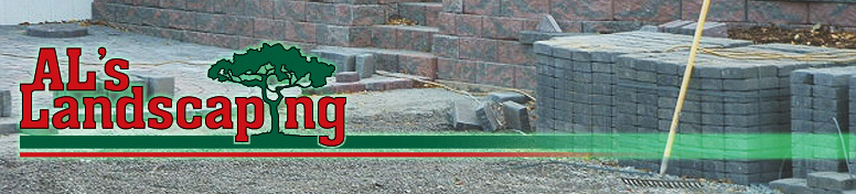 Al's Landscaping: Bricks Being Installed in Driveway