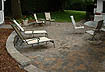 Backyard Surburban Multi-colored Brick Patio [COMPLETED 2]