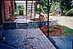 Rear Entry Brick Patio & Steps with Landscape Bed [COMPLETED]